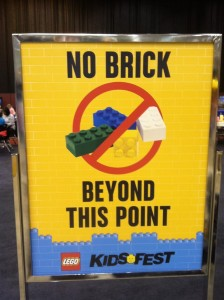 Lego No Brick Sign