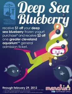 Menchie's Feb 2012 Great Cleveland Aquarium Discount