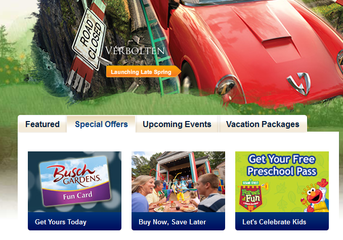 Pampers Gifts To Grow Free Kids Admission To Busch Gardens Williamsburg
