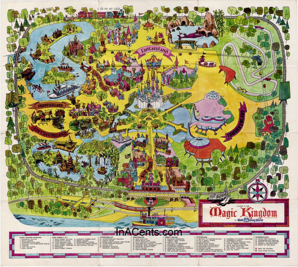1971 WDW Magic Kingdom Map
