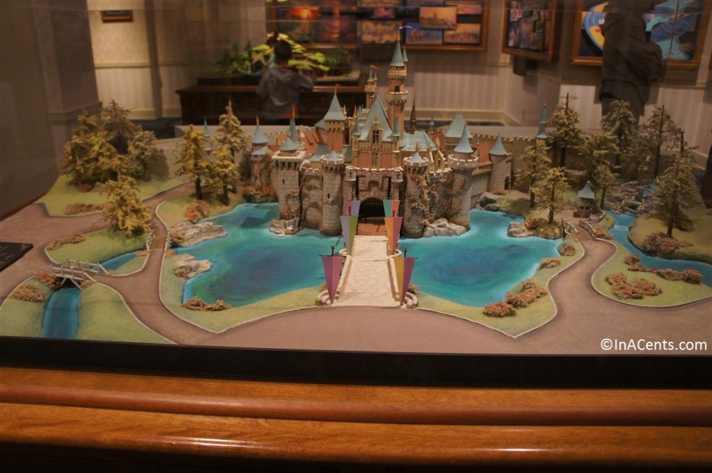 120610 Disney Gallery Disneyland Castle Model 1