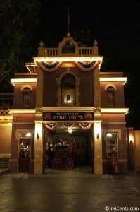 120610 Disneyland Fire Station at Night