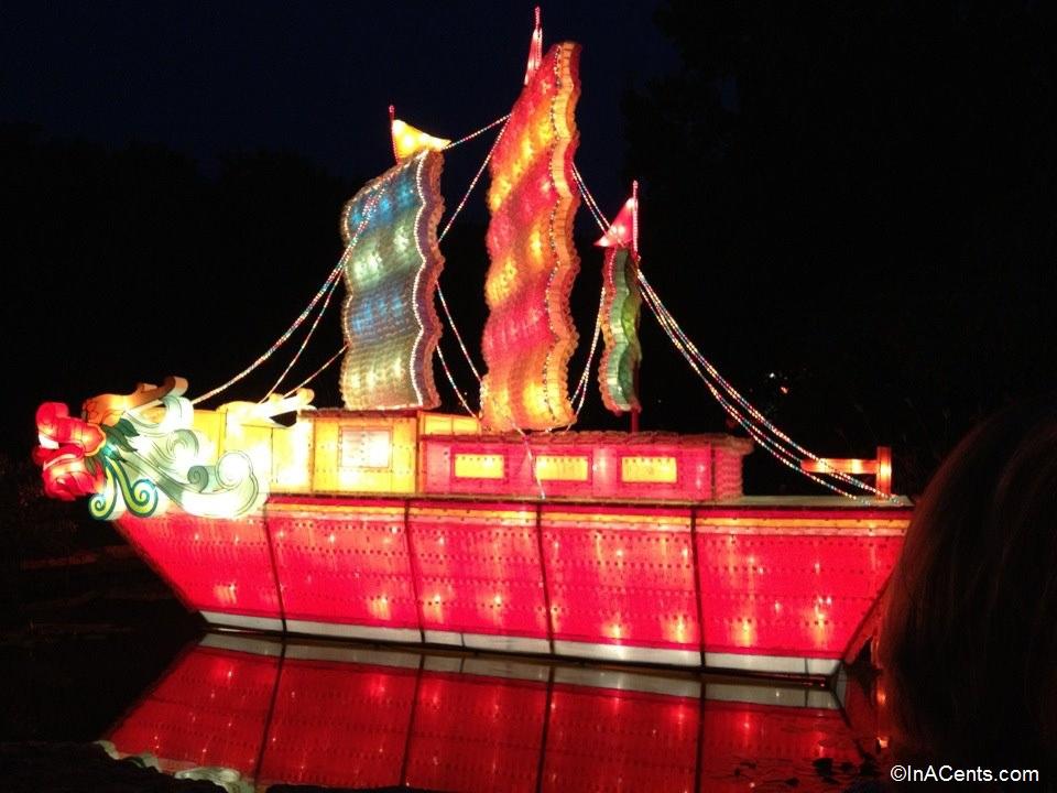 17-Missouri Botanical Gardens Japanese Lanterns Sail Boat