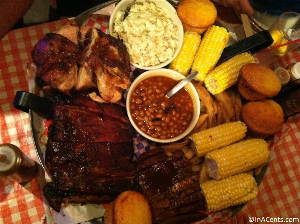 120908 Famous Dave's BBQ Feast Platter
