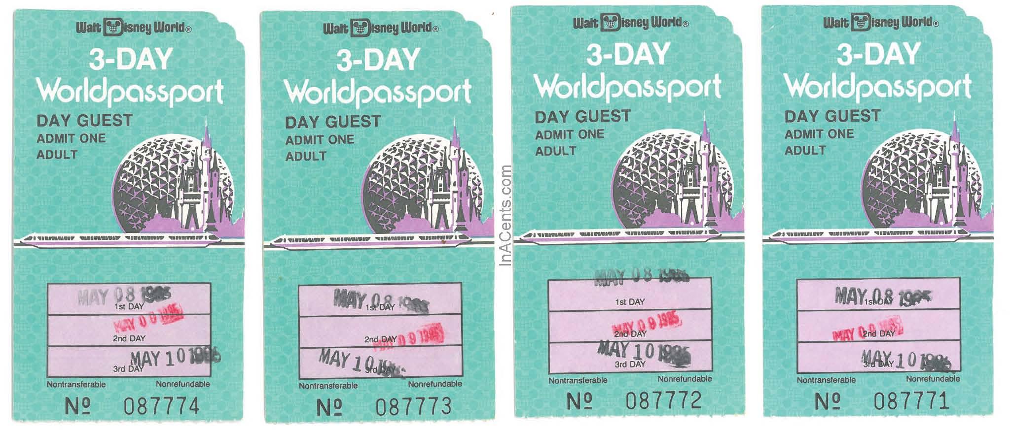 1985 walt disney world 3 day worldpassport ticket stubs inacents 1985 walt disney world 3 day tickets front publicscrutiny Image collections