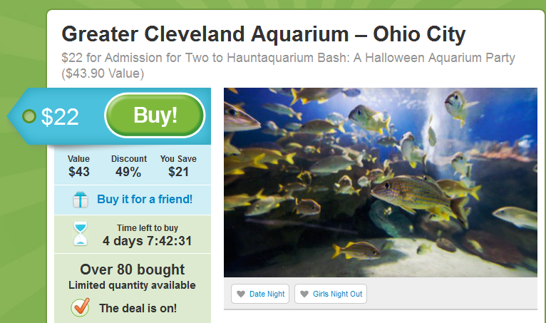 Cleveland Aquarium Oct 2012 Groupon
