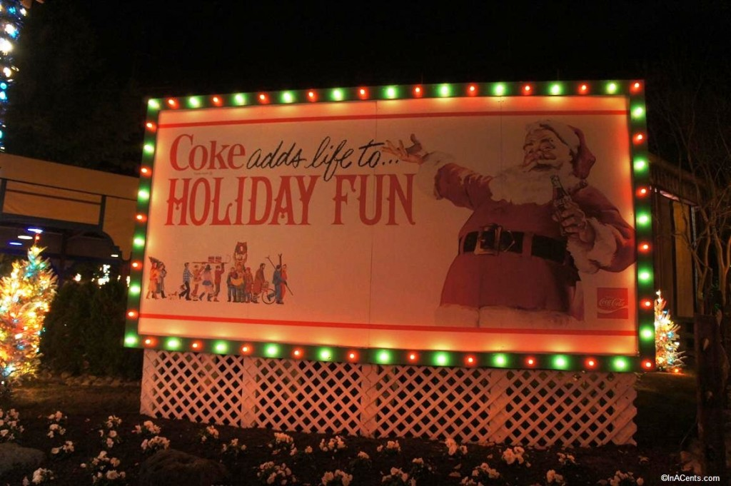 121123 Busch Gardens Williamsburg Christmas Town Coke Sign