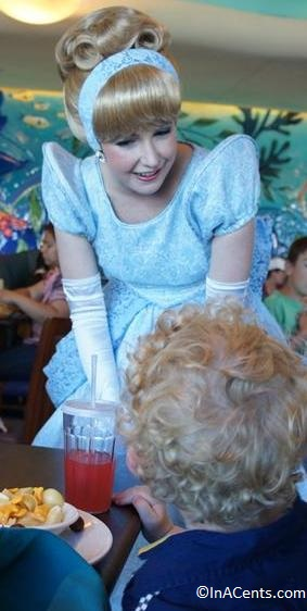 120611 DCA Ariel's Grotto Cinderella Princess Meet