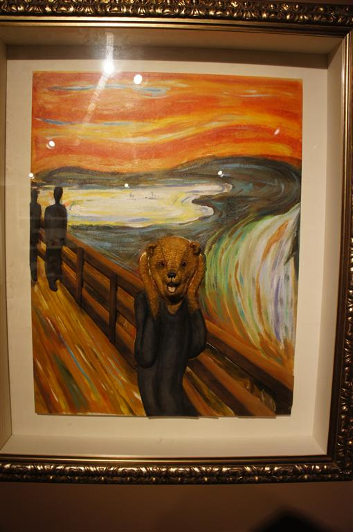 120624 Teddy Bear World Hawaii- The Scream Painting