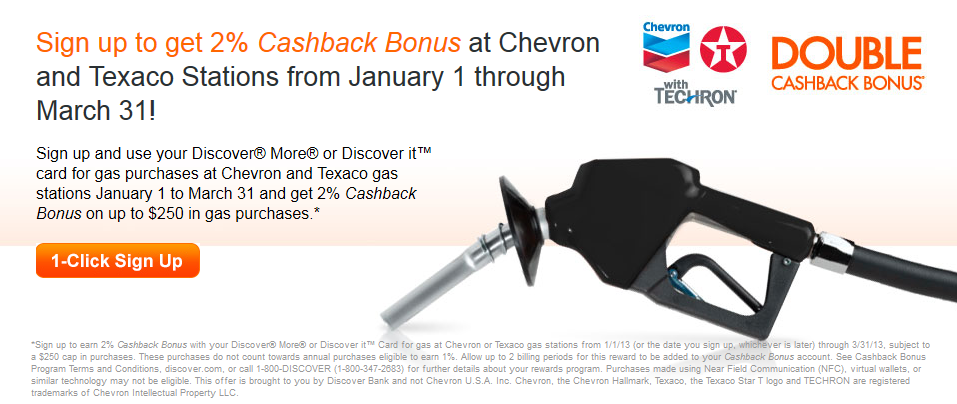 Discover Jan 2013 Chevron Promo