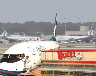 AIRTRAN AIRWAYS WENDY'S FLY-THRU DRIVE-THRU