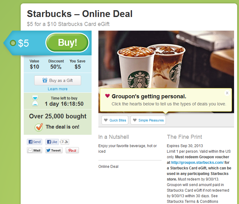 Groupon Starbucks