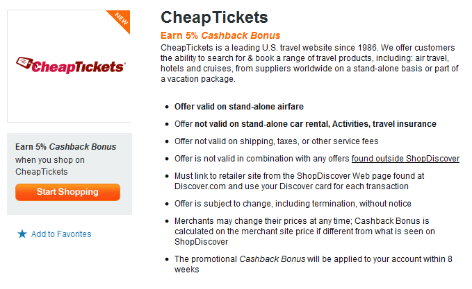 to evaluate Shop Discover's new partnership with CheapTickets ...