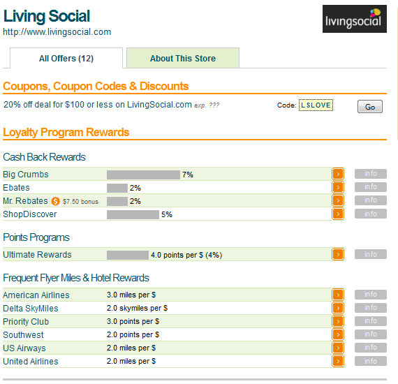evReward Living Social