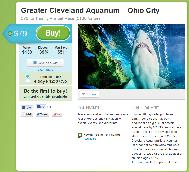 Greater Cleveland Aquarium Groupon