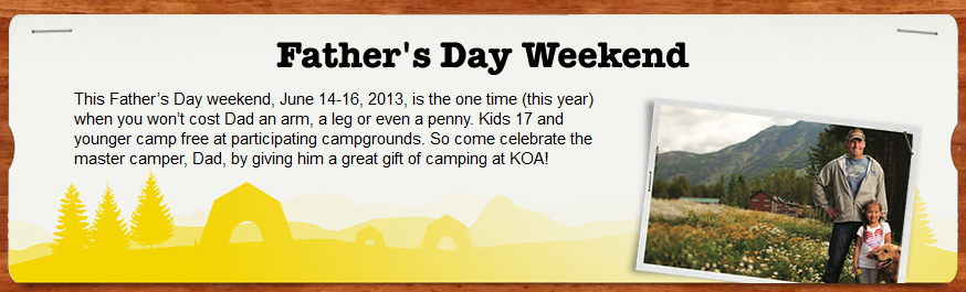 KOA Father's Day Promo