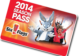 2014 Six Flags Season Pass
