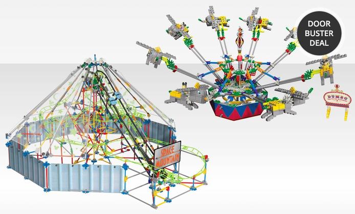 K Nex Motorized Disney Ride Models Dumbo Amp Space Mountain