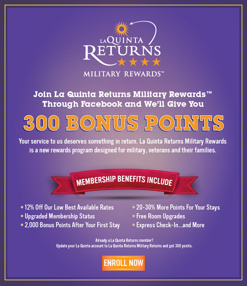 La Quinta Returns Military Rewards Bonus