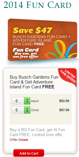 Buy A Busch Gardens Tampa Fun Card Get Adventure Island