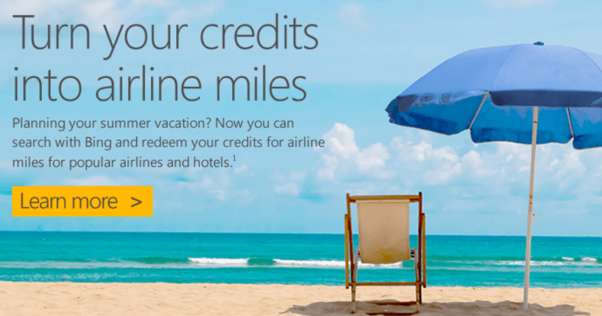 Bing Rewards Airline Miles