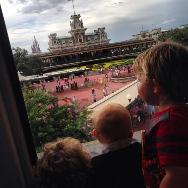 Magic Kingdom Monorail View