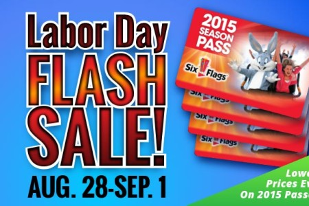 2015 Six Flags Labor Day Flash Sale