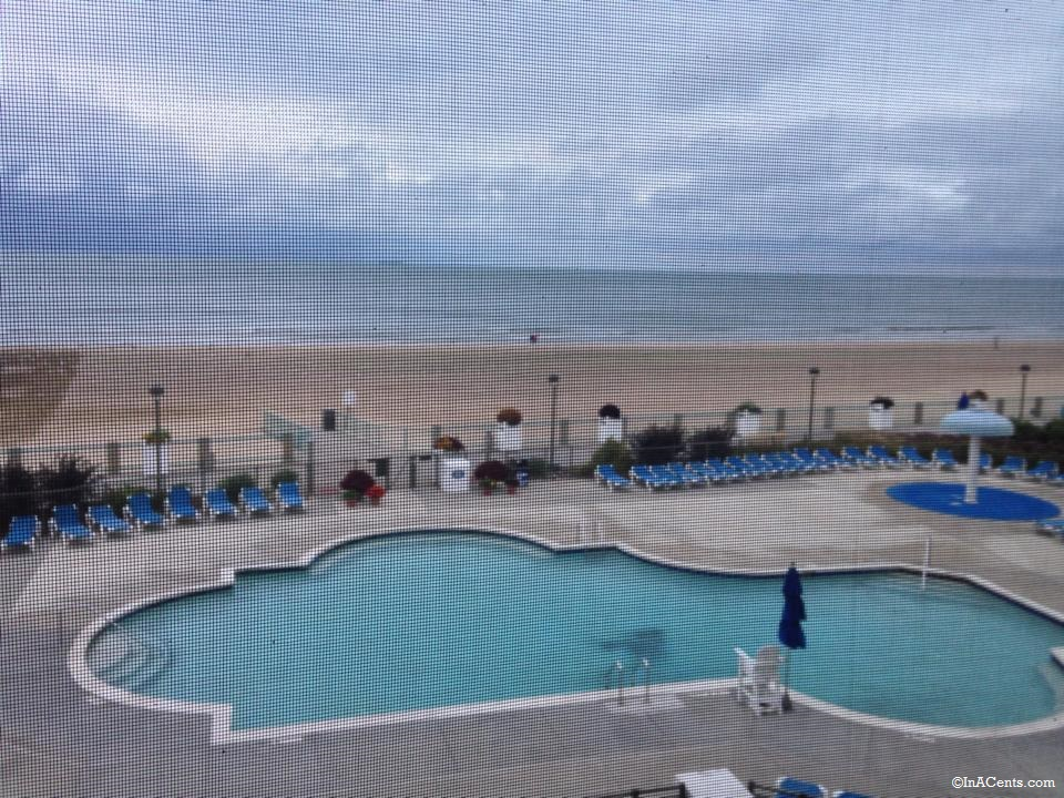 140913 Cedar Point Hotel Breakers Screened in Porch Overlooking Pool