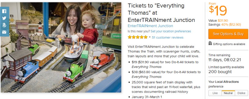 Tickets to Everything Thomas at EnterTRAINment Junction