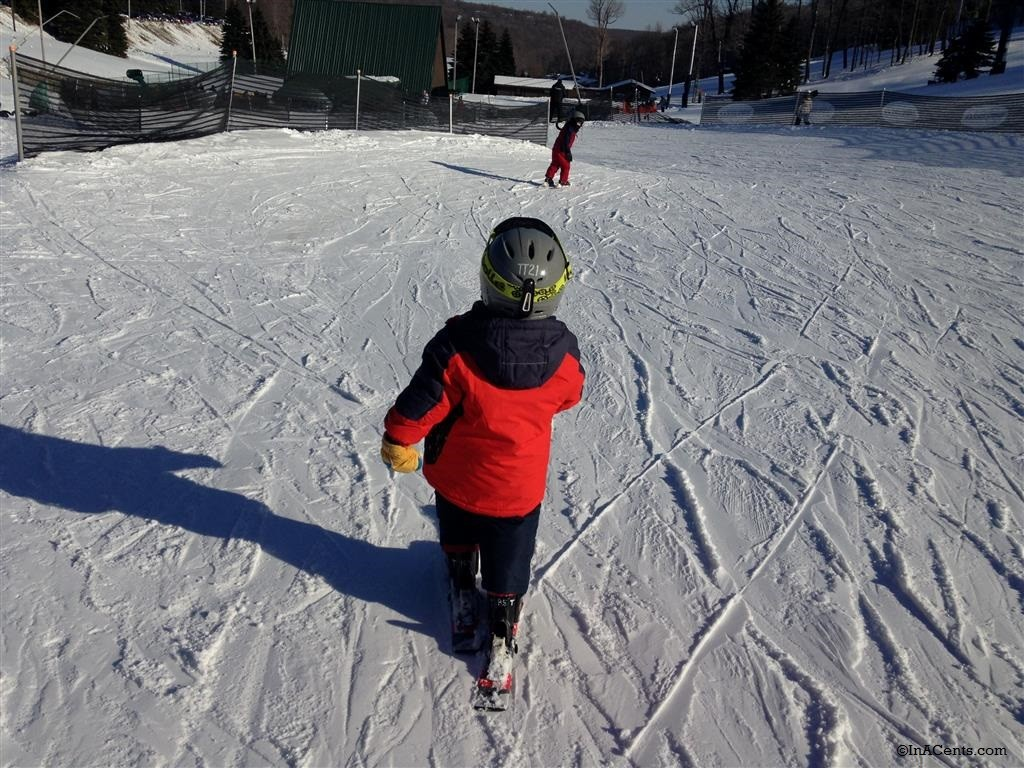 150228 Seven Springs Chasing the Kids Down the Mountain