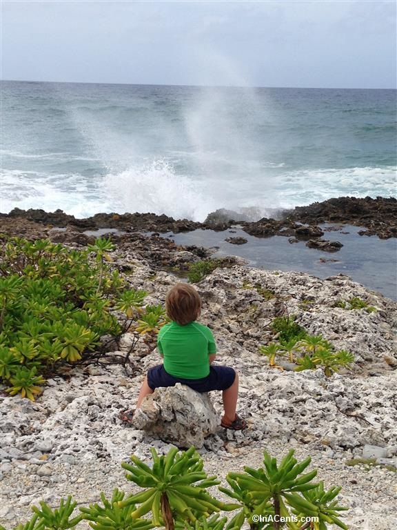 150702 Blow Holes, Grand Cayman with Kids