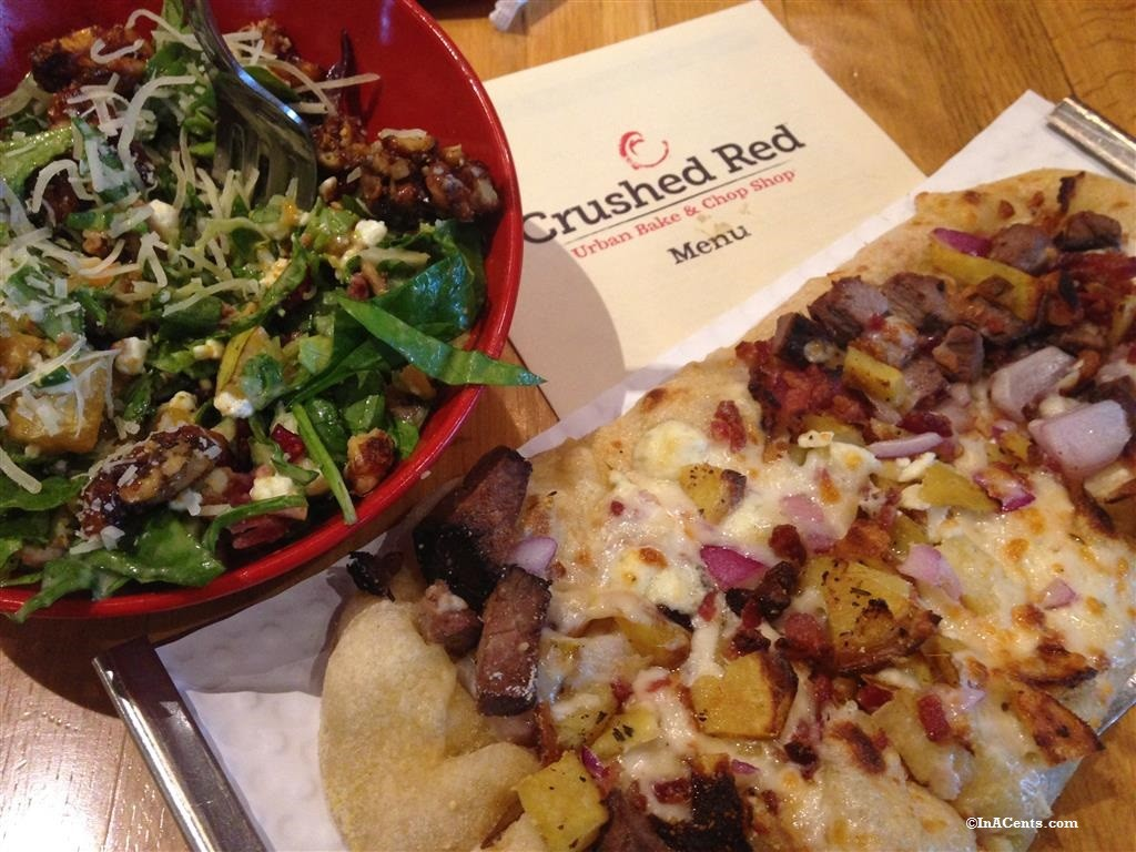 151127 Crushed Red Spiced Pear Salad and Flat Bread