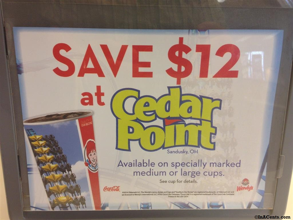 Cedar Point 12 Discount With Wendy S Cup Inacents Com
