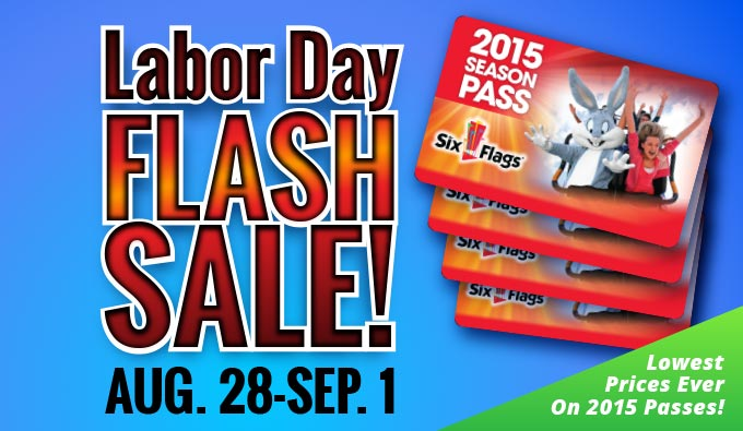 2015 Six Flags Labor Day Flash Sale Inacents Com